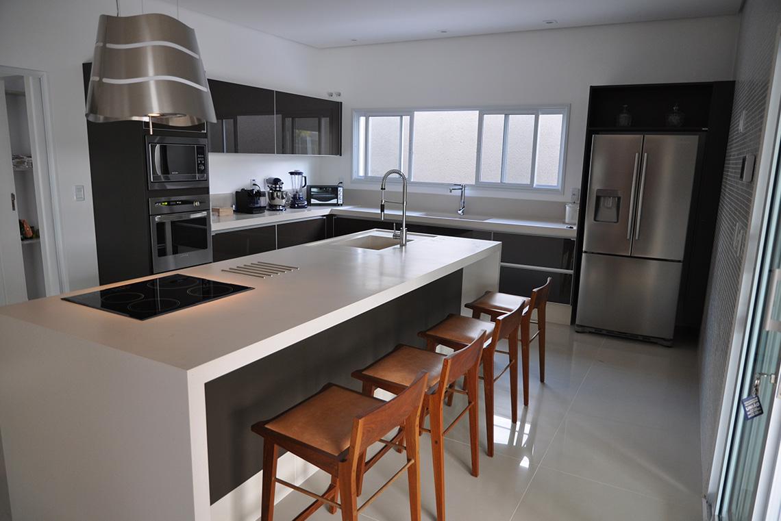 Projeto: Cozinha Residencial e Área Gourmet - Marcato
